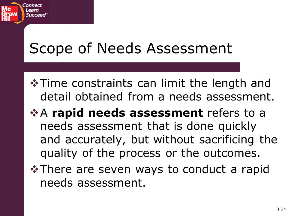 Scope of Needs Assessment