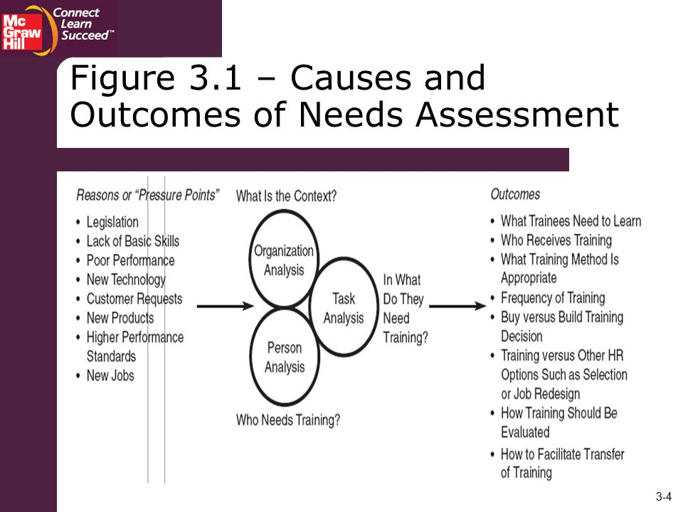 Figure 3.1 – Causes and Outcomes of Needs Assessment