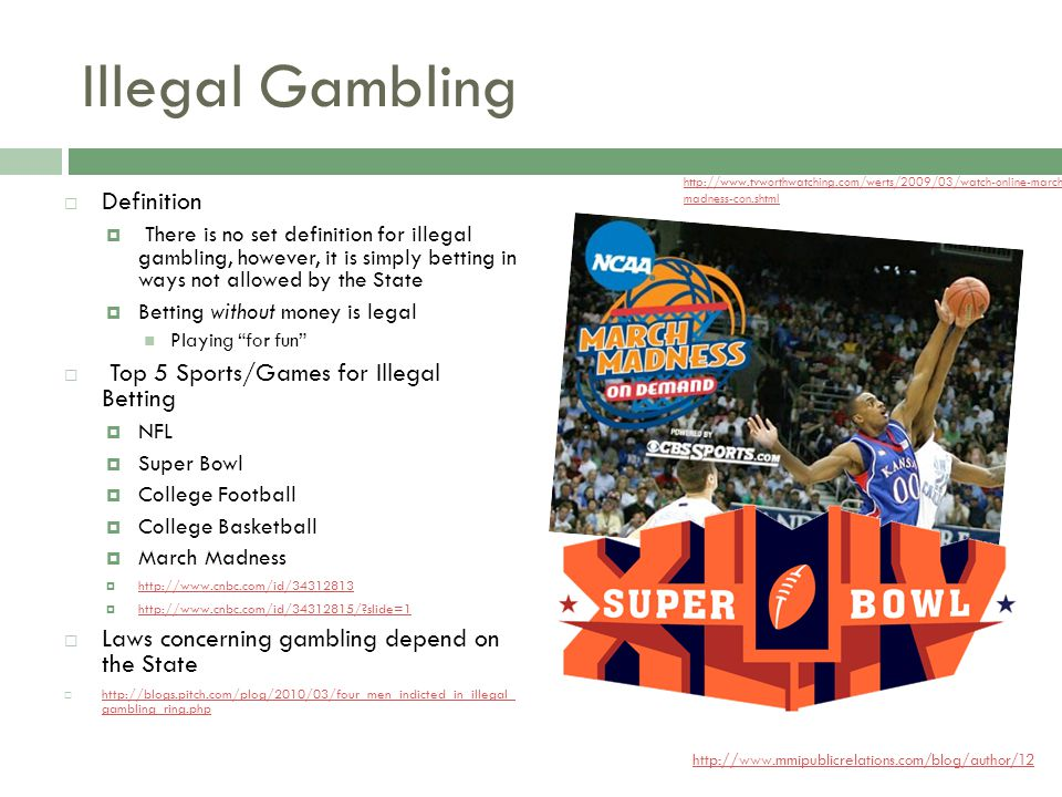 Illegal gambling meaning