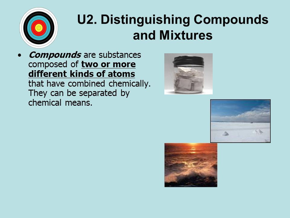 U2. Distinguishing Compounds and Mixtures