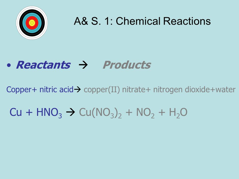 A& S. 1: Chemical Reactions