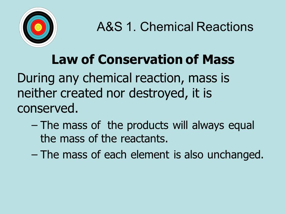 A&S 1. Chemical Reactions