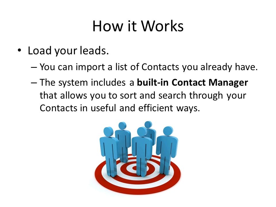 How it Works Load your leads.