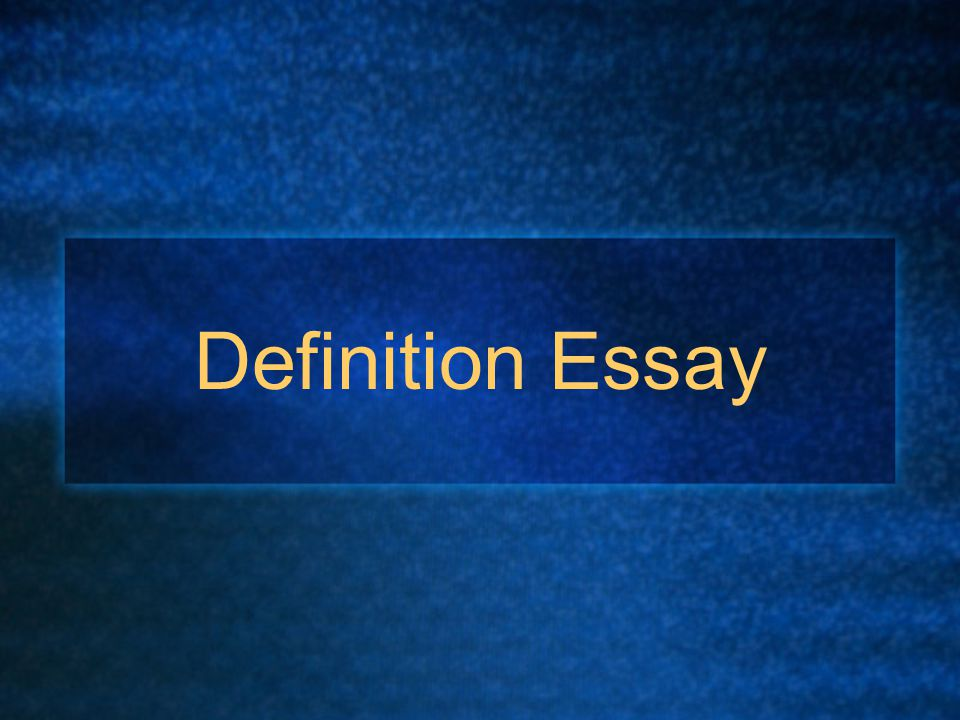 Stipulative definition essay