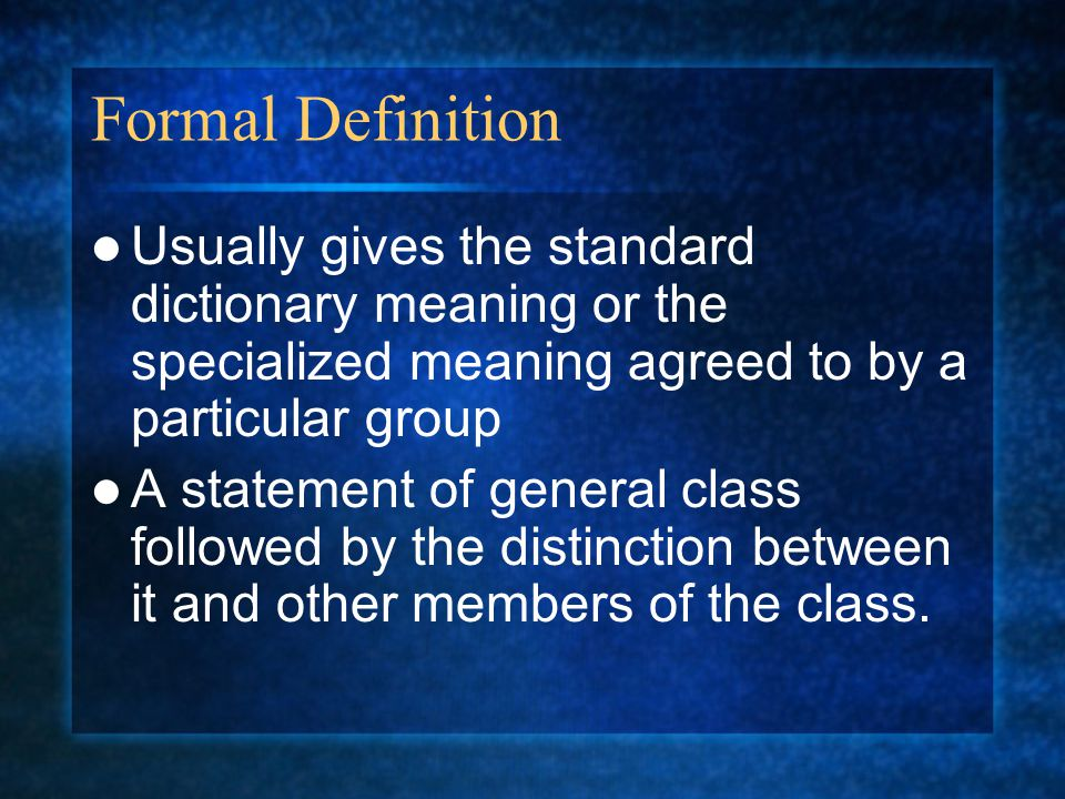 definition essay ppt video online  4 formal definition