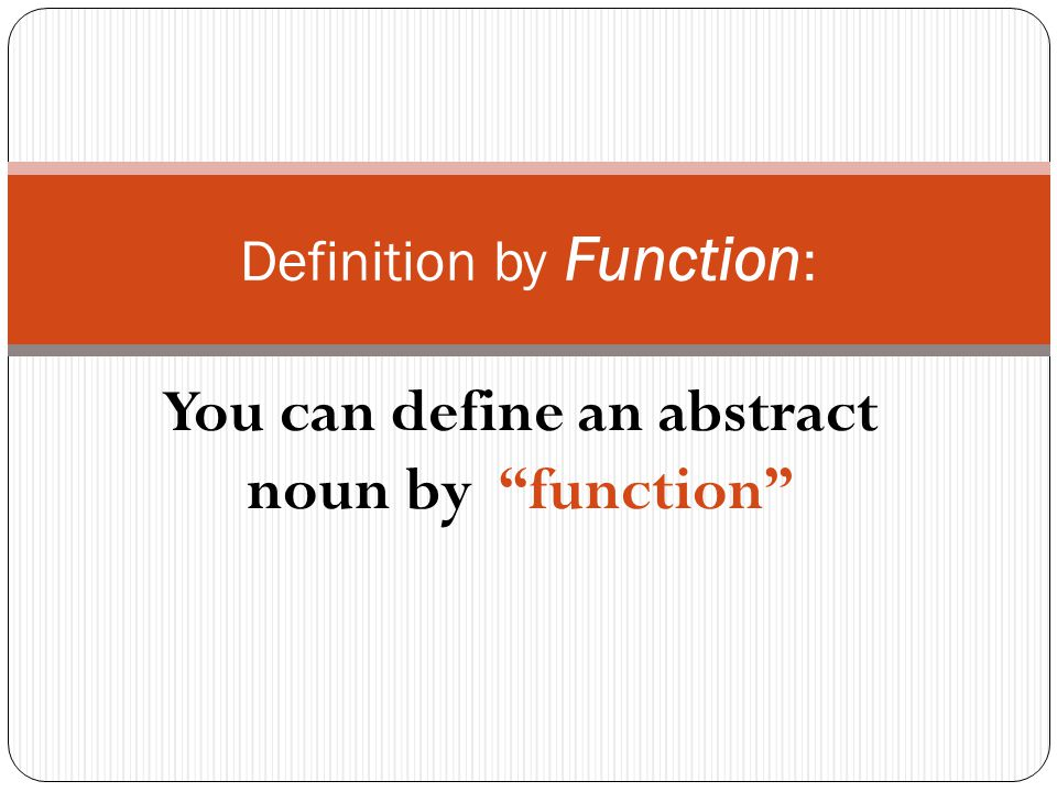 abstract definition essay