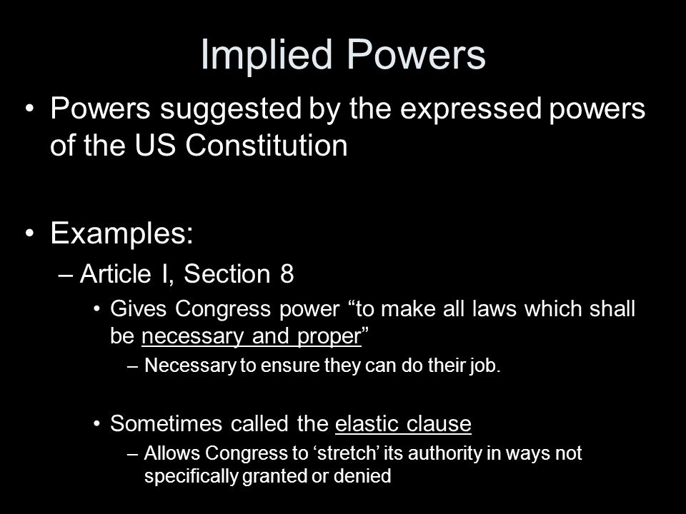 the powers of congress within the us government Receive information about any changes to congress for kids and the other seven  powers of the federal government  things within their borders.