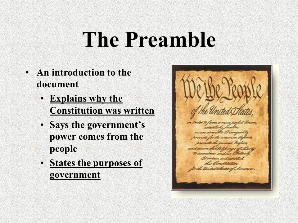 An introduction to the us constitution