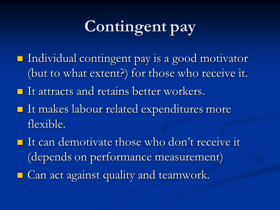 pay is a good motivator Frederick herzberg's motivation-hygiene theory is a motivational theory based on two factors.