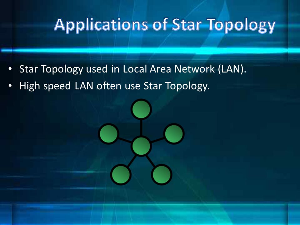 Applications of Star Topology