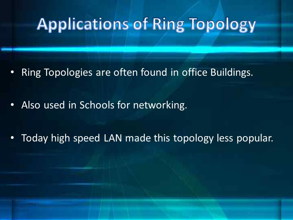 Applications of Ring Topology