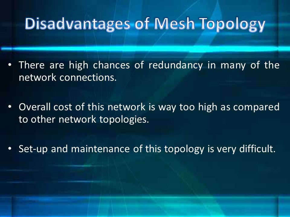 Disadvantages of Mesh Topology