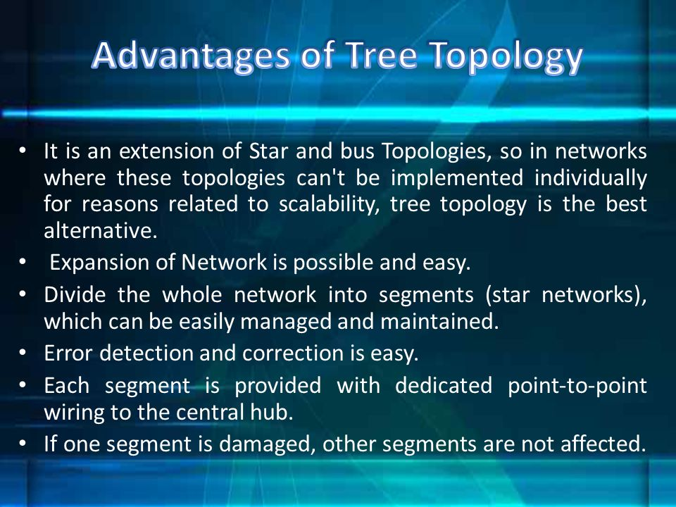 Advantages of Tree Topology