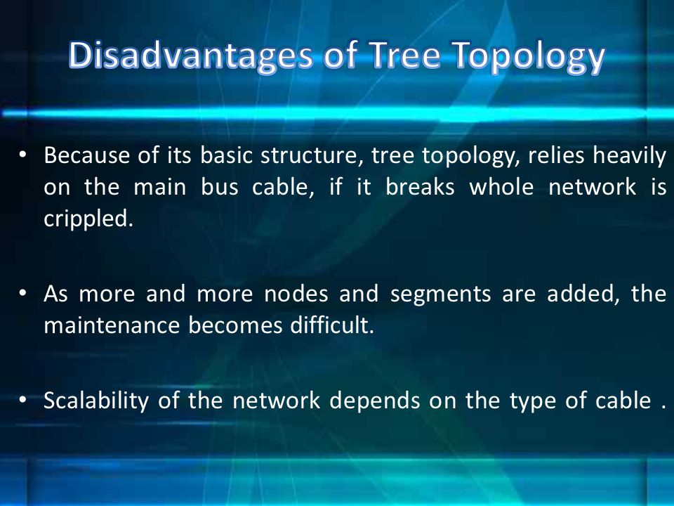 Disadvantages of Tree Topology