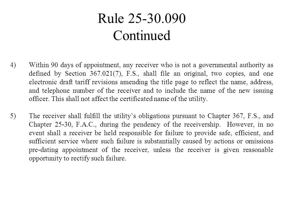 RULE 25-30.090 Abandonment