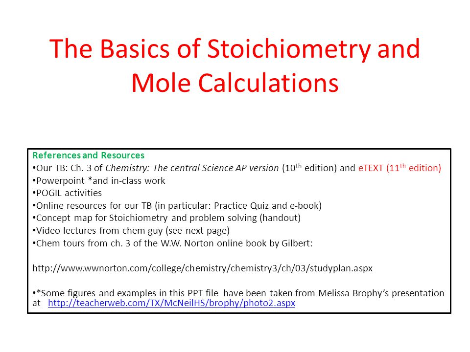 the basics of stoichiometry and mole calculations ppt  1 the