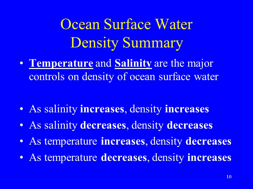 Topic 14 Density Driven Currents - ppt video online download