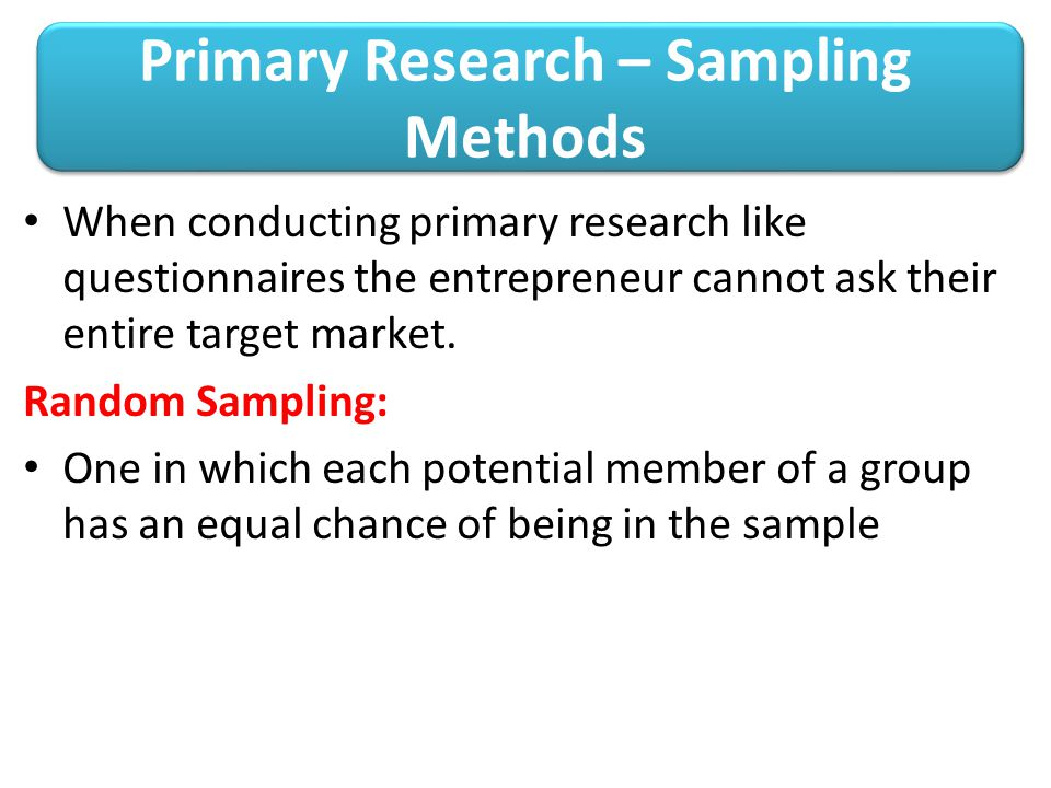 Methods of conducting research