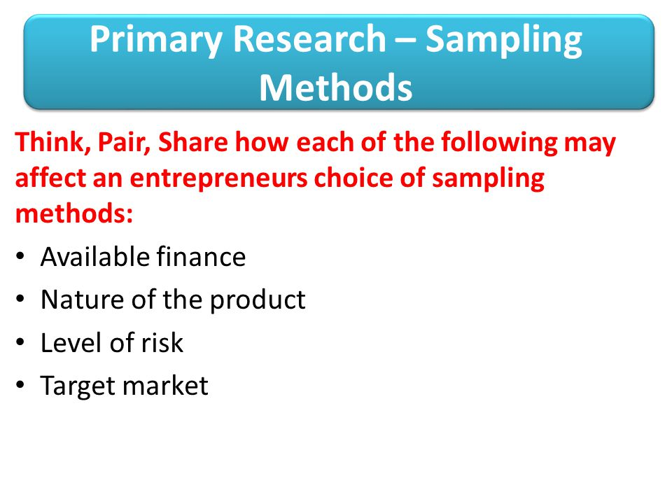 primary research strategies