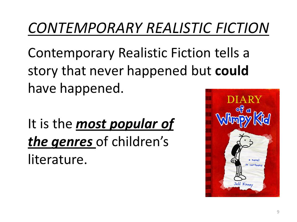 contemporary realistic fiction essays What is contemporary realistic fiction realistic fiction may be defined as imaginative writing that accurately reflects life (kiefer, 201) it is .
