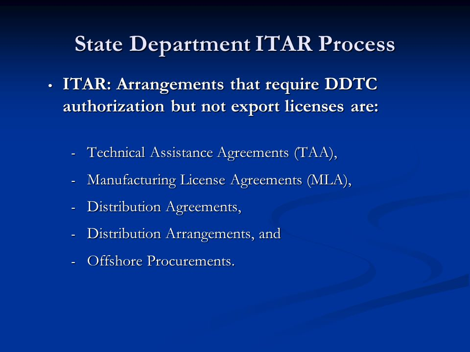 What to do when export controls apply ppt download state department itar process platinumwayz
