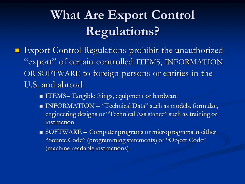 exchange control regulations exports The foreign exchange regulations to banks and financial institutions, authorized   article 69: control of export repatriation shall be carried out through the.