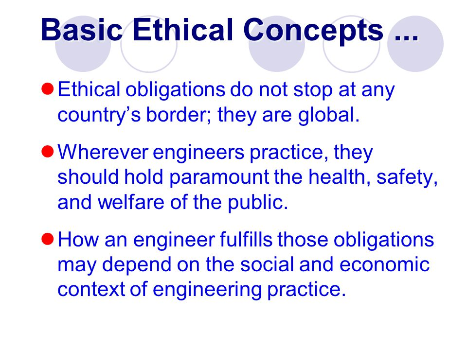 concepts of ethics View central-concepts-in-ethics from compsci 236 at duke university 1 the three central concepts in ethical theory as we proceed through the semester, we will look at a number of different ethical.