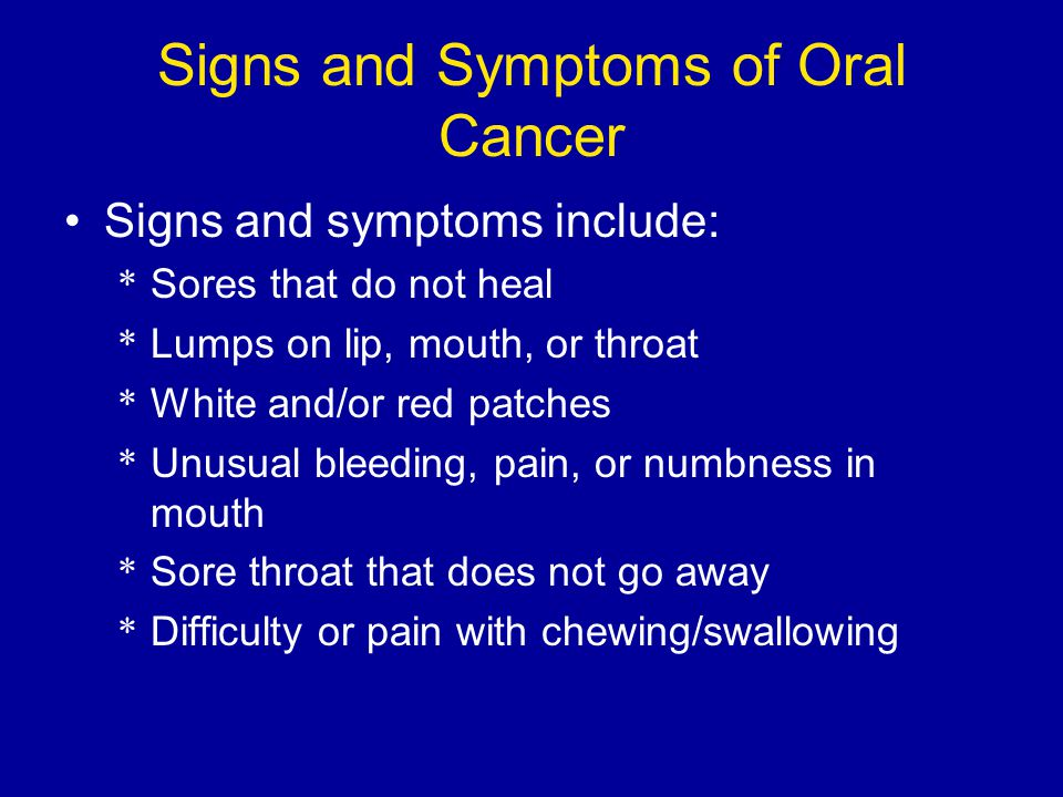 oral cancer essay Health promotion and oral cancer order description write up of a literature of abstracts only: [note: just from abstract ] title: health promotion and oral cancer.