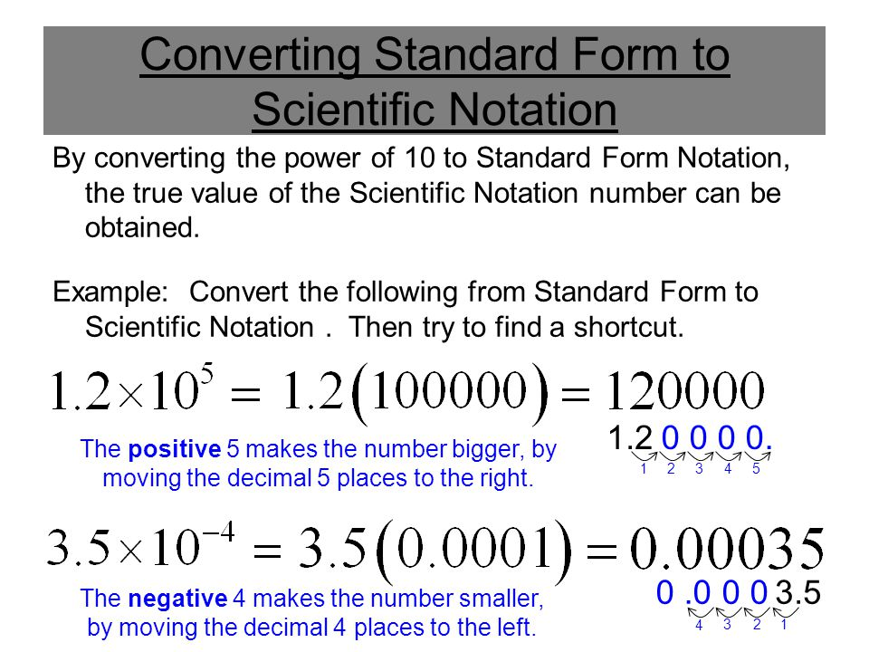 converting arguments to standard form