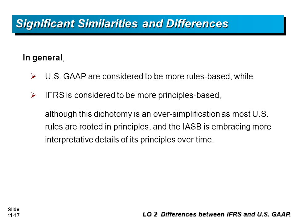 Comparing the similarities and differences in accounting standards between ifrs and gaap