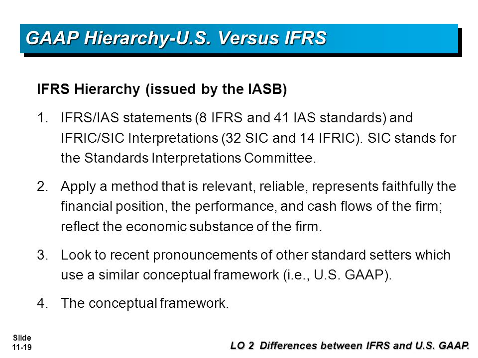 the similarities and differences between iasc standards and the us gaap International financial reporting standards (ifrs) is the accounting method that's used in many countries across the world it has some key differences from the generally accepted accounting principles (gaap) implemented in the united states.