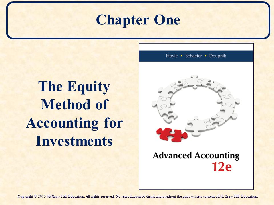 advance accounting the equity method of Course description advanced accounting delivers a balanced and detailed approach to the conceptual and technical aspects of financial accounting and reporting the materials include comprehensive coverage of the three key methods of consolidated financial reporting (cost, partial equity, and complete equity.