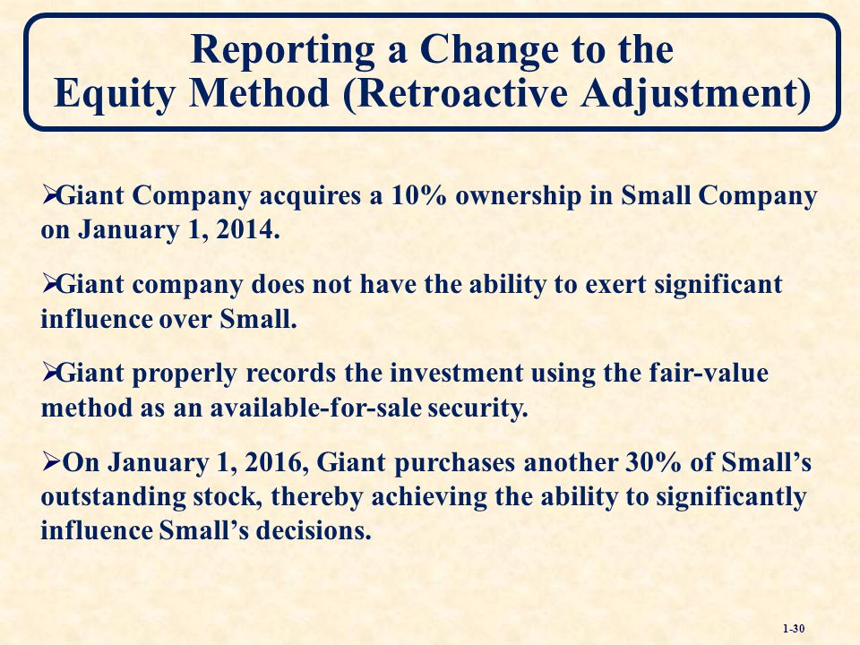 what is another name for equity the equity method of accounting for investments ppt
