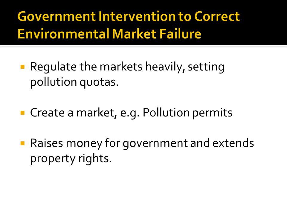 Government Intervention to Correct Environmental Market Failure