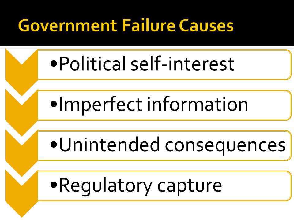 Government Failure Causes