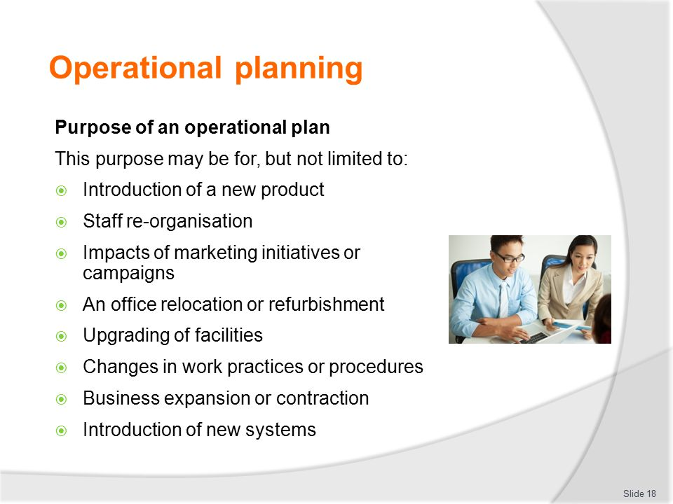 Operational plan in business plan