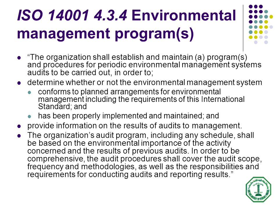 control environment audit work program 1 In 1999, the minnesota legislature passed legislation that ensured the continuation of the environmental improvement program, more commonly known as the environmental audit program (eap.