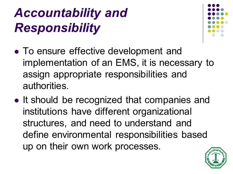 Responsibility is a necessary but not