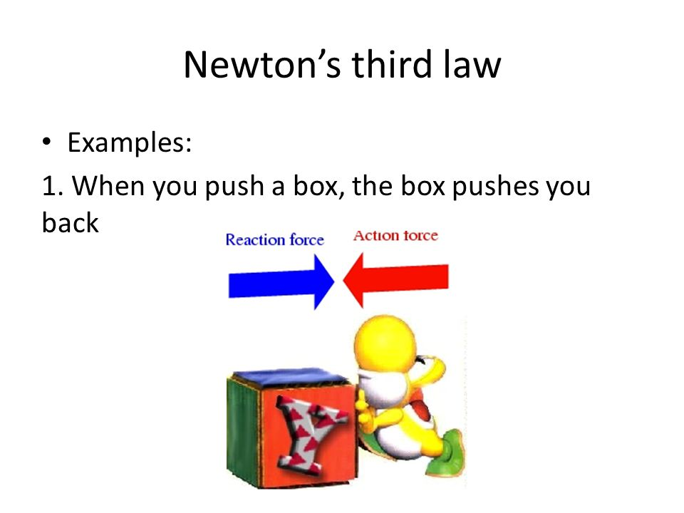 Examples of newtons third law