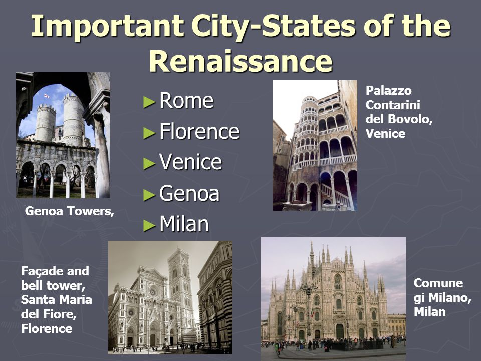 The renaissance ppt video online download important city states of the renaissance sciox Image collections