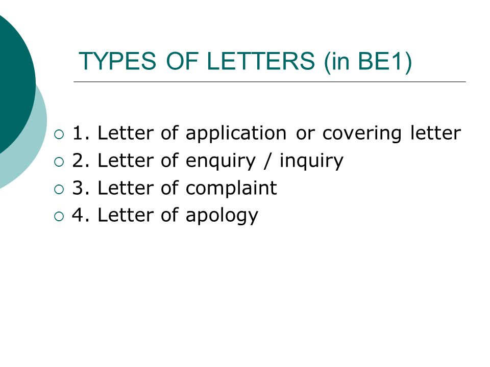 Formal Business Correspondence General Guidelines