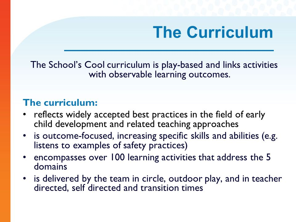 play based curriculum Play as curriculum: by francis wardle, phd play there are two radically different views on the value of play early childhood educators, child development specialists, and some parents believe play is the best way for young children to learn the concepts, skills, and tasks needed to set a solid foundation for later school and life success.