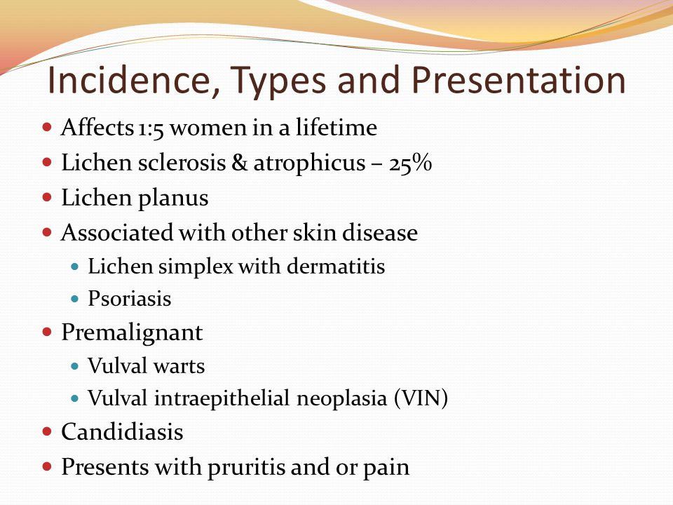 Incidence, Types and Presentation