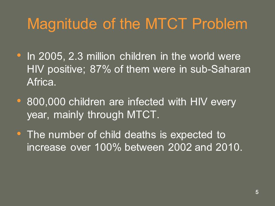 Magnitude of the MTCT Problem