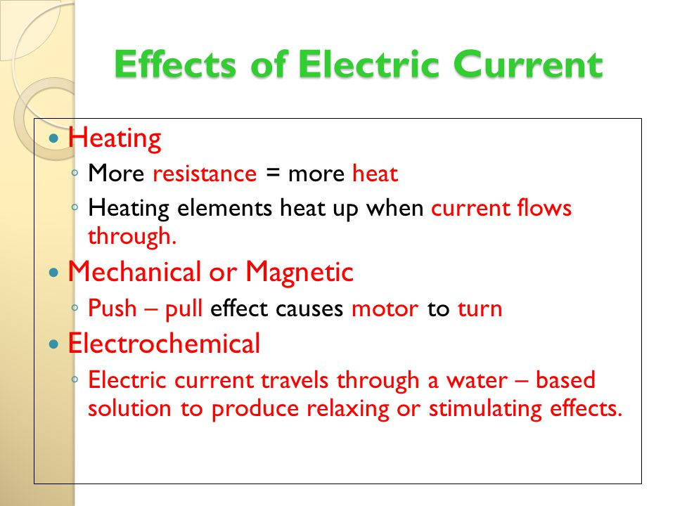 heating effec of electric cuyrrent Learn about the electric components used in a circuit heating and magnetic effect of electric current electromagnets join byju's to learn more.