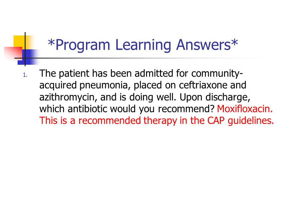 Module 2 (of 3): Antibiotic Review* - ppt download