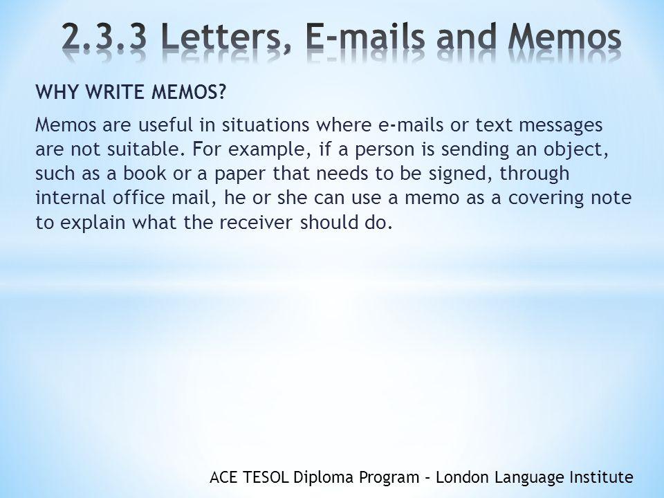 how to write memorandum letter
