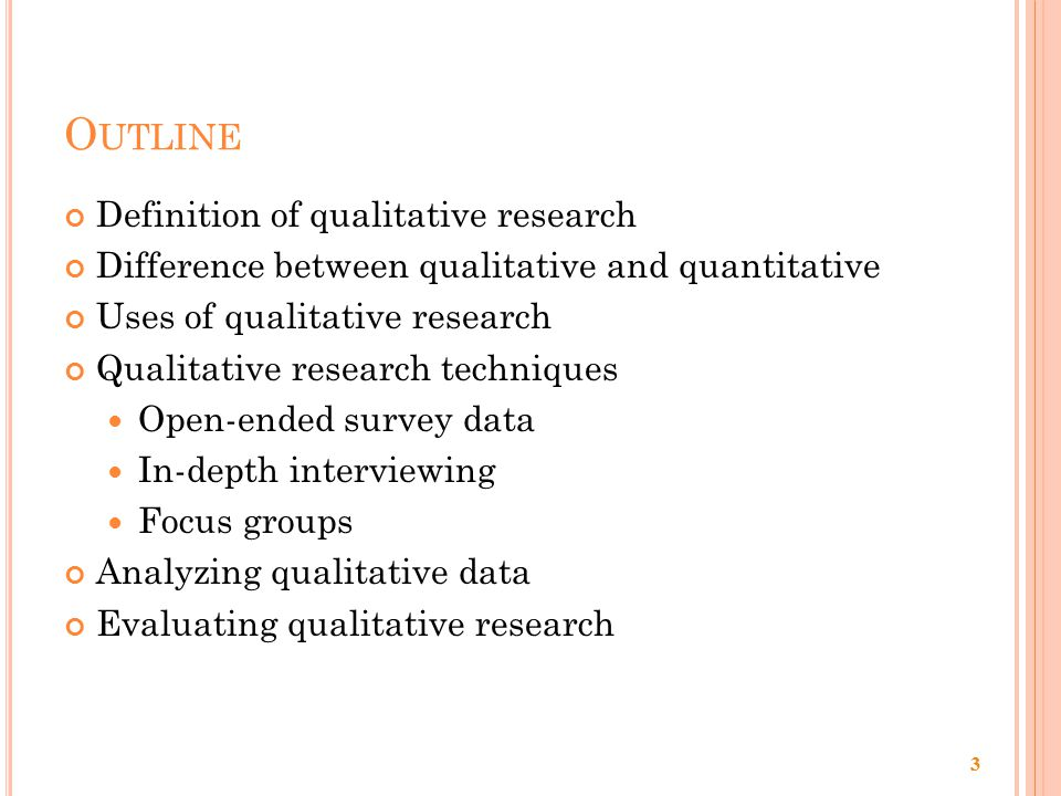 Glossary of research methods