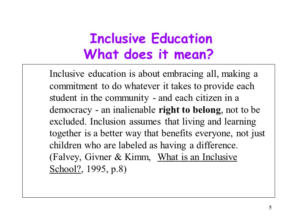 Benefits of Inclusive Education