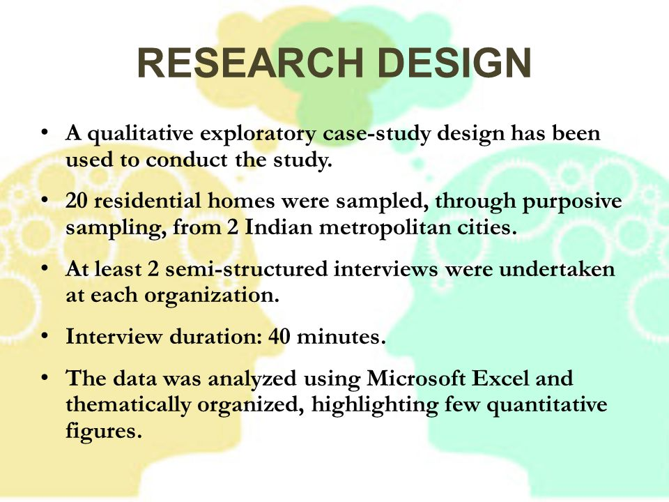 qualitative research case study design The following guidelines are provided for submissions reporting case study research aimed at understanding a bounded phenomenon by examining in depth, and in a holistic manner, one or more particular instances of the phenomenon case study research in tesol and second language acquisition (sla) has.